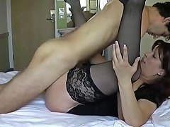 Mature Lady In Stockings Takes His Virginity Free Porn A0